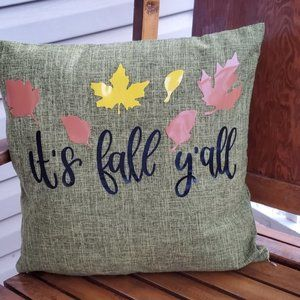 It's Fall Yall Themed Throw Pillow Case